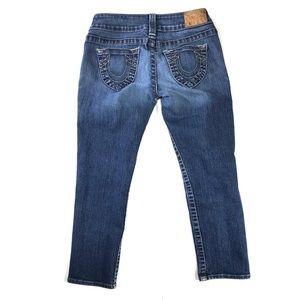 True religion jeans slim straight leg medium wash